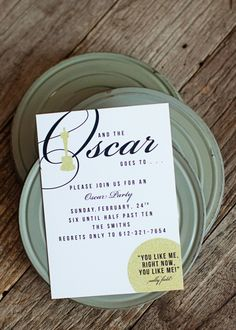 Oscar Party Invitations