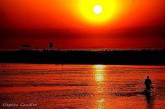 Sunset on de sea in Conil de la Frontera, Andalusia_ Spain