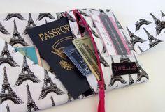 Dollbirdies Small Passport Wallet with ID Window and Zipper Pocket, Passport Wallet, Travel Wallet, Passport Cover by Dollbirdies on Etsy