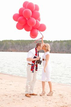 Red Balloon Valentines Day Love Session