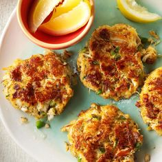 Classic Crab Cakes Recipe -This region is known for good seafood, and crab cakes are a traditional favorite. I learned to make them from a chef in a restaurant where they were a best-seller. The crabmeat's sweet and mild flavor is sparked by the blend of other ingredients. —Debbie Terenzini, Lusby, Maryland
