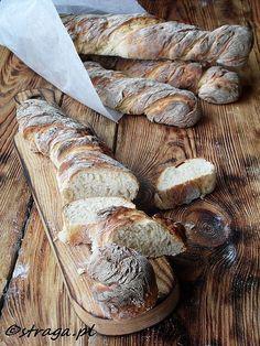 Bagietki pszenno-żytnie ekspresowe (rustykalne bagietki) Baking Recipes, Bread Recipes, My Favorite Food, Favorite Recipes, Country Bread, Good Food, Yummy Food, Bread Baking, Tasty Dishes