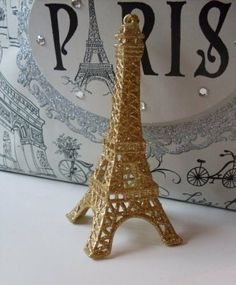 Sparkling Gold Eiffel Tower Cake Topper Weddings, Showers, Anniversary, Christmas Ornament  We Ship Internationally on Etsy, $39.95