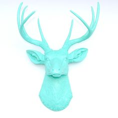 Found it at AllModern - Faux Taxidermy Resin Deer Head Wall Décor http://www.allmodern.com/deals-and-design-ideas/p/Accents-Blowout-Faux-Taxidermy-Resin-Deer-Head-Wall-D%C3%A9cor~NEAD1053~E19993.html?refid=SBP.rBAZEVU6p36NgULjWsOMAjkCH8T4ukshjv2EBU_Rm-8