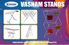 Vasnam cloth drying stands for home of any size, this cloth drying stand is sturdy, rust resistant and collapsible. When not in use, quickly fold flat for compact storage inside the house or in the balcony. Cloth Drying Stand, Metal Shoe Rack, Aluminium Ladder, Balcony, Rust, Compact, Household, Storage, Clothes