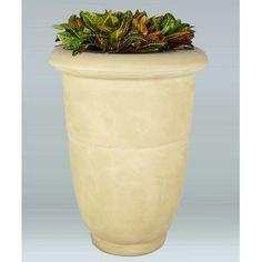 "Allied Molded Products Venus Round Pot Planter Size: 20"" H x 18"" W x 11"" D, Color: Beige"