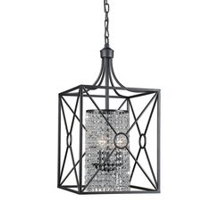 Add style and soft illumination to your entryway, dining room or any other area of your home with this Gisela crystal beaded iron chandelier. The stately iron cage is finished in antique bronze, and houses a column of crystal beads.