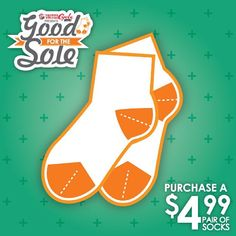 "@Hope Mission's photo: ""@UnitedCycle and Hope Mission are asking for your help to give life back to the tired feet of Edmonton's homeless and disadvantaged. In supporting ""Good for the Sole"" by purchasing a $4.99 pair of socks online or in-store throughout the month of August #yeg #uc_socks"""