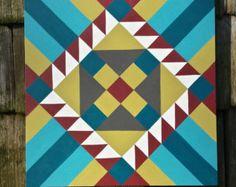 Church Window fall colors 18 x 18 Barn Quilt by stellassweetheart