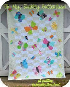Silly Shabby Butterflies Quilt
