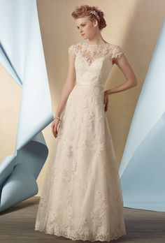 Sophisticated Lace Necklines for Sophisticated, Older Brides. #weddings #dresses #lace