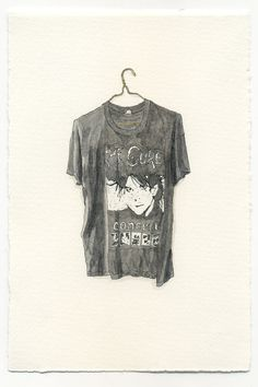 Watercolor Illustration - Thread Bare The Cure Concert Band T-Shirt