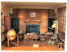 Washington's study: 1:12 scale reproduction of Mount Vernon