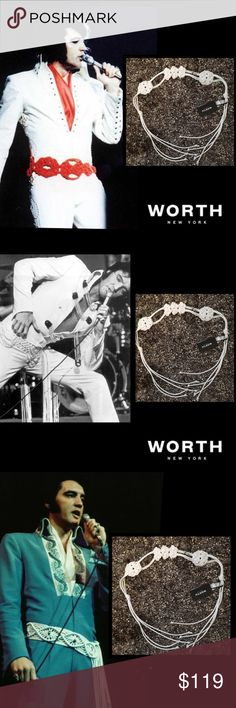 "🆕Worth New York🌹White Macrame Leather Belt🌹 Elvis loved macrame belts🌹Wise men say only fools rush in But I can't help falling in love with you🌹you will fall in love with this luxurious belt🌹 Shall I stay Would it be a sin If I can't help falling in love with you Like a river flows surely to the sea 🌹Darling so it goes Some things are meant to be🌹it will be a staple in your wardrobe 🌹100% Leather 🌹C152BT08-XP 🌹Total Length 57"" Worth New York Accessories Belts"