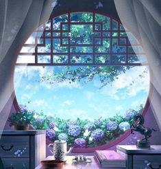 I wan to stay here Episode Backgrounds, Anime Backgrounds Wallpapers, Anime Scenery Wallpaper, Fantasy Art Landscapes, Fantasy Landscape, Landscape Art, Aesthetic Backgrounds, Aesthetic Wallpapers, Casa Anime