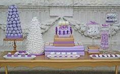 Image result for purple dessert tables
