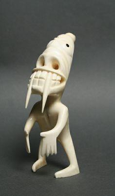 Tupilaq Native Indian, Native Art, Sculpture Art, Sculptures, Inuit Art, Horror Show, Indigenous Art, Anthropology, Statues
