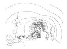 Zespół domów w układzie pasmowo-szeregowym - Karolina Chodura, WA Politechniki Śląskiej House Architecture, Drawings, Art, Home Architecture, Art Background, Kunst, Sketches, Performing Arts, Drawing