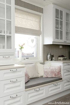 Kitchen - instead of drawers on the left, make a tall, glass front, china cabinet