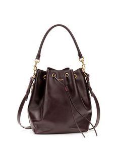 Medium Bucket Shoulder Bag, Bordeaux by Saint Laurent at Neiman Marcus.