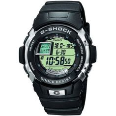 Casio - Men's G-Shock Black Rubber Strap Chronograph Watch - G-7700-1ER  RRP: £75.00 Online price: £56.26 You Save: £18.74 (25%)  www.lingraywatches.co.uk