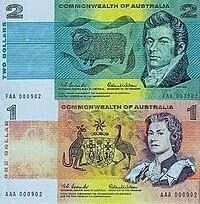The original one and two dollar paper notes.