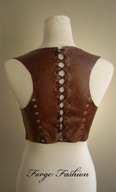 Back Leather Harness Bolero by Trinitynavar.deviantart.com on @DeviantArt