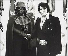 Dark Vader and Elvis