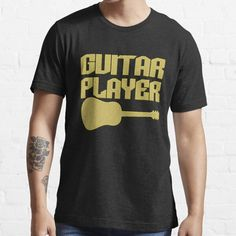 Guitar Player design available in various items, fits to all, and colors. Musicians and music lovers will find this design perfect for them. Those who loves black will definitely love this! • Millions of unique designs by independent artists. Find your thing. Types Of T Shirts, Music Lovers, Men's Clothing, Tshirt Colors, Wardrobe Staples, Female Models, V Neck T Shirt, Musicians, Classic T Shirts