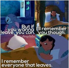 Lilo and stitch ~ this is too sad. Of all Disney characters little Lilo has got the saddest lines but they are all so true when it comes to life :( Disney Love, Disney Magic, Disney And Dreamworks, Disney Pixar, Lilo And Stitch 3, Ohana Means Family, Oui Oui, Disney Quotes, Movie Quotes