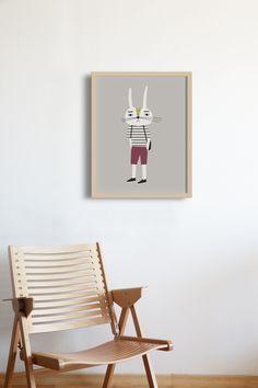 Little Otja, the Coolest Wall Art for your Kids Room - Petit & Small Closet Bedroom, Kids Bedroom, Cool Wall Art, Kids Room Wall Art, Pine Forest, Modern Kids, Kidsroom, Scandinavian, Nursery
