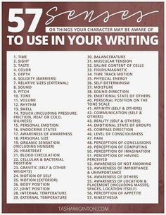 57 senses to use for character awareness, writing tips, writing prompts, writing inspiration Creative Writing Tips, Book Writing Tips, Writing Words, Writing Process, Writing Resources, Writing Help, Creative Writing Inspiration, Story Writing Ideas, Music Writing
