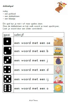 E-mail - astrid hermans - Outlook Learning Activities, Kids Learning, Visually Impaired Activities, Spelling For Kids, Learn Dutch, Dutch Language, School Info, School Readiness, School Themes
