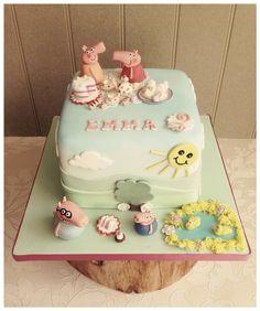 Peppa pig via loving cupcakes. Solihull
