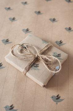 Blue Bird Gift Wrap Kit