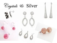 Crystals and 925 Silver Silver Jewellery, Jewelry, 925 Silver, Drop Earrings, Crystals, Silverware Jewelry, Jewlery, Bijoux, Schmuck