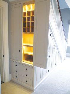 Under Stairs Nook, Closet Under Stairs, Under Stairs Cupboard, Staircase Storage, Bookcase Storage, Stair Storage, Closet Storage, Modern Staircase, Staircase Design