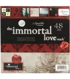 Die Cuts With A View Premium Cardstock Stack Immortal Love (Is it me or does think look like Twilight inspired paper?!?
