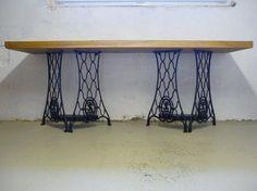 tables avec pieds de machines coudre meubles et d co recyclage pinterest tables. Black Bedroom Furniture Sets. Home Design Ideas