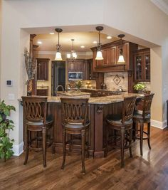 This is a kitchen I would love!  Kitchen The Jasper Hill House Plan #5020