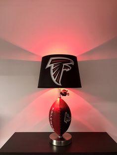Atlanta Falcons Lamp, NFL Lamps, Kids night light, Falcons decor, gifts for men, table lamps, NFL, Falcons, lamps, Father's Day, falcons light, football decor, Matt Ryan, Julio jones, Super Bowl 51, Atlanta Falcons, by CaliradoArt on Etsy https://www.etsy.com/listing/529308527/atlanta-falcons-lamp-nfl-lamps-kids