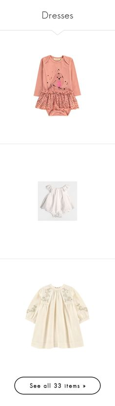 """Dresses"" by crazyhat15 ❤ liked on Polyvore featuring baby, powder pink, baby girl, dresses, daisy-print dresses, white daisy dress, white flutter sleeve dress, cotton print dress, white print dress and kids"