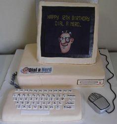 Happy birthday computer nerd cake PC design