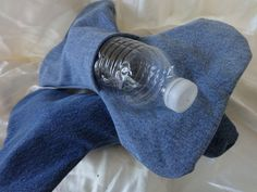 Denim Dog Toy Pocket Type to Put 500ml by EnglewoodFrontPorch, $5.98
