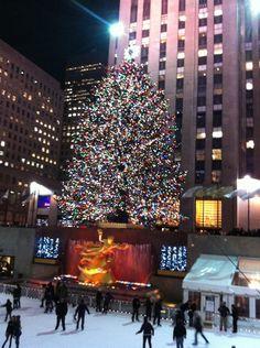 Rockefeller Center Christmas Tree em New York, NY