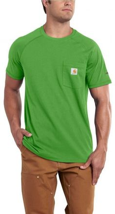 de79b99f23d6 Add custom printed logo to Carhartt Force Cotton Delmont SS T Shirt  Carhartt Men s Force Cotton Delmont Short Sleeve T-Shirt 100410