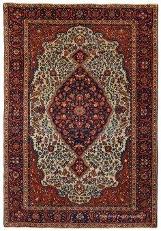 FERAHAN SAROUK, West Central Persian 3ft 5in x 5ft 0in Circa 1900 http://gallery.claremontrug.com/gallery/?p=1&g=4&gg=Claremont%202%20-%20Fabulous%20Old%20Rugs!