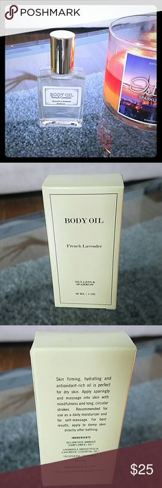 Body Oil French Lavender Mullein & Sparrow *French Lavender* Body Oil. 1oz Made in Brooklyn NY. BRAND NEW IN BOX Other
