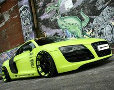 If you want your Audi to stand out in a crowd, then take it to the guys from XXX-Performance. Here is their latest masterpiece on the Audi quattro. Audi R8 V10, Audi R8 Sport, Audi A5, Sexy Cars, Hot Cars, Automobile, Dacia Duster, Bmw Autos, Reliable Cars