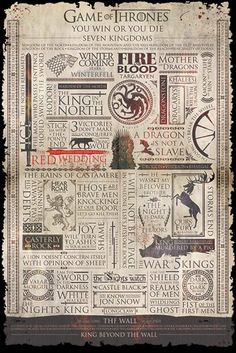 Game of Thrones - Infographic - Official Poster